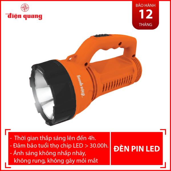 Đèn Pin LED Điện Quang ĐQ PFL08 R OBL (Pin sạc, Cam - Đen)