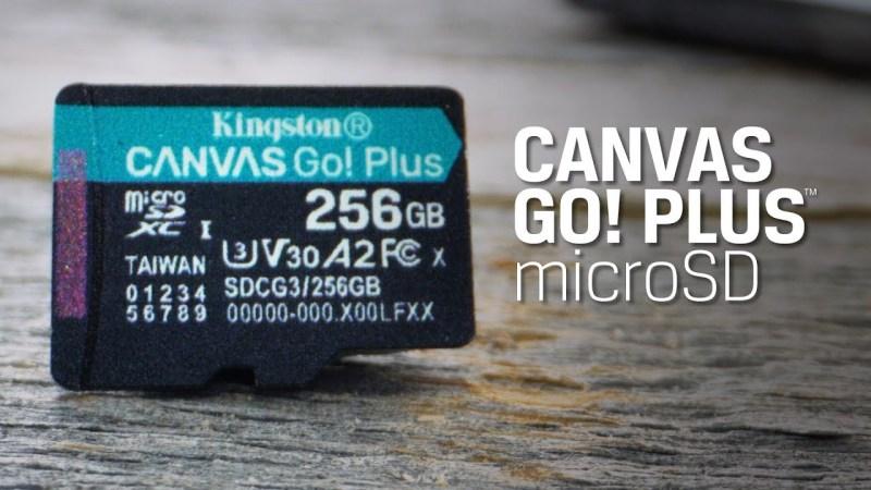 [𝐆𝐢𝐚̉𝐦 𝐧𝐠𝐚𝐲 𝟓𝟎𝐊 Đ𝐇 𝐭𝐮̛̀ 𝟔𝟎𝟎𝐊] Thẻ nhớ Kingston Canvas Go Plus V30 MicroSD 64/128/256/512GB cho di động Android, camera, flycam và sản xuất video 4K SDCG3