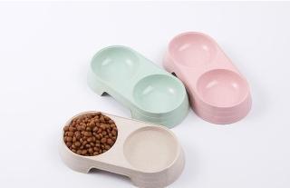 Bát ăn đôi tròn cho chó mèo chất liệu nhựa cao cấp nhiều màu sắc thumbnail