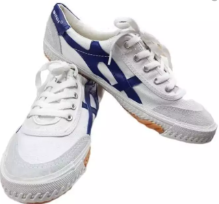Giày Bata Thượng Đình - Trắng Vạch Xanh thumbnail