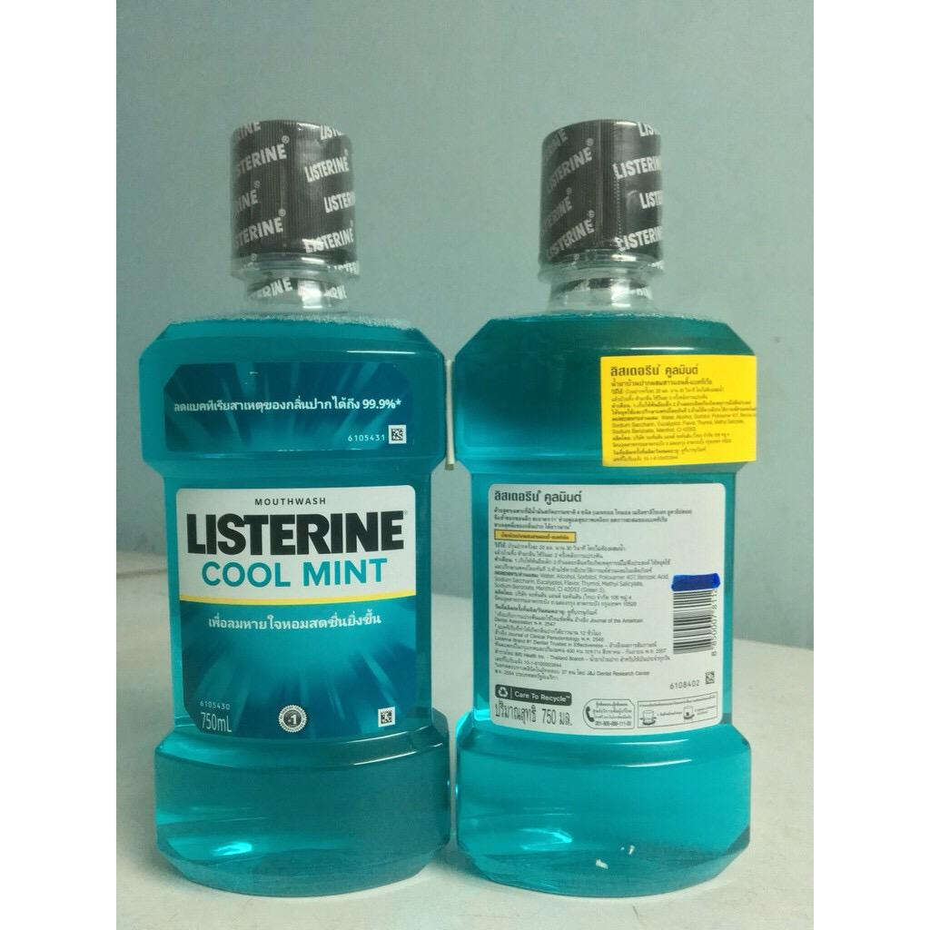 1 chai nước súc miệng LISTERINE Thái Lan 750ml nhập khẩu