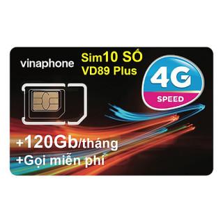 Sim 4G Vina Vd89plus chỉ 89k tháng 4GB ngày (120GB tháng) +50p gọi ngoại mạng+ Miễn phí gọi nội mạng Vinaphone thumbnail