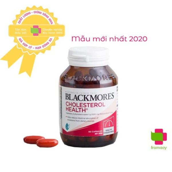Viên uống Blackmores Cholesterol Health, Úc (60v) giảm mỡ máu, cân bằng cholesterol cho người trên 12 tuổi