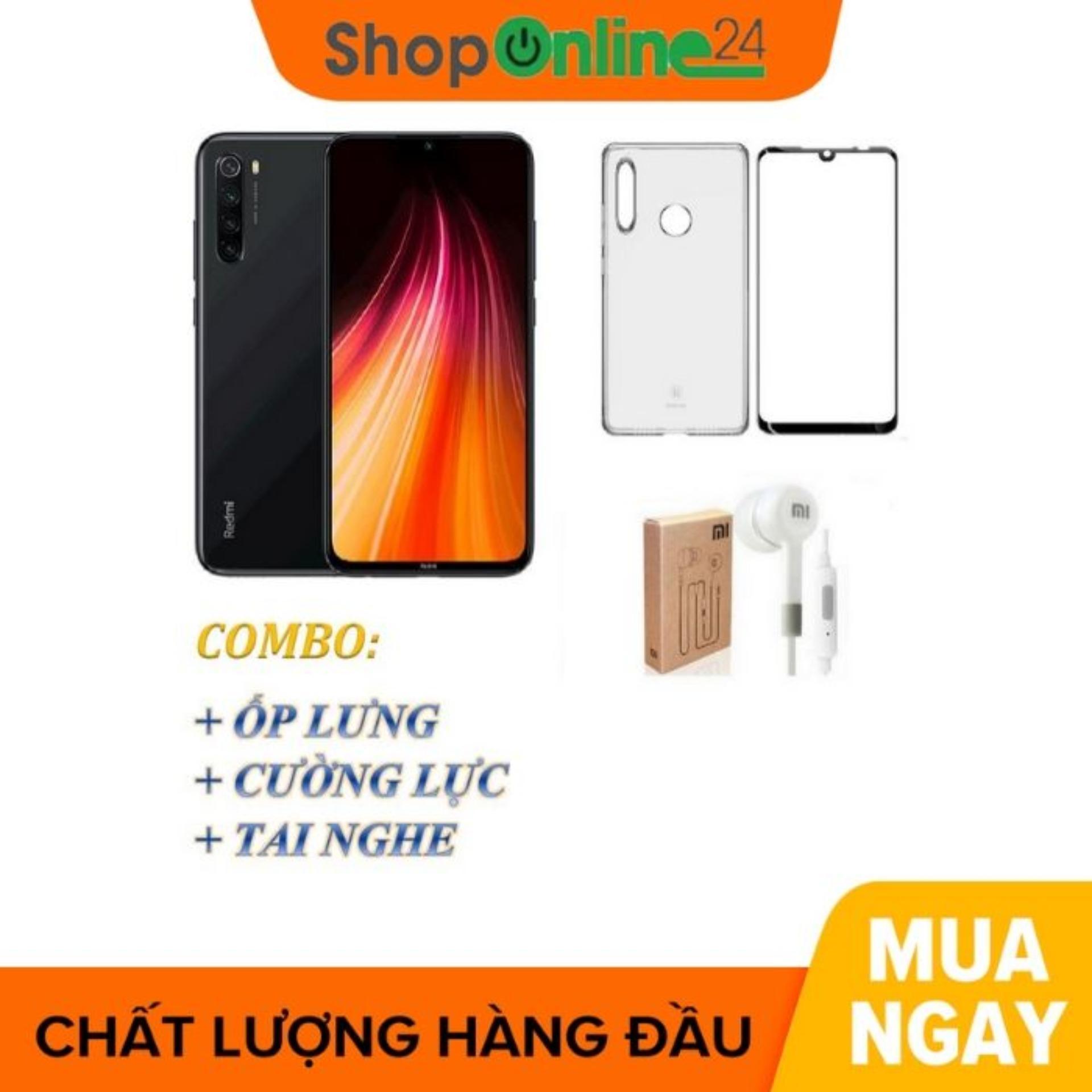Xiaomi Redmi Note 8 Ram 4GB  64GB + Ốp Lưng + Cường Lực + Tai Nghe - Shop Online 24 - Hàng Nhập Khẩu Đang Giảm Giá