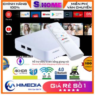 Android TV Box Himedia S500 Ram 2GB- Android TV 9.0 -Kèm Remote Voice -Hàng Chính Hãng