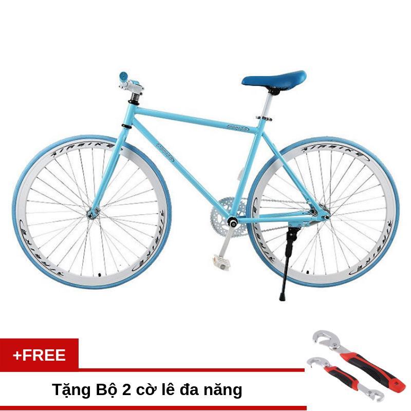 Mua Xe đạp Fixed Gear Air Bike MK78 (xanh) + Tặng bộ 2 cờ lê đa năng