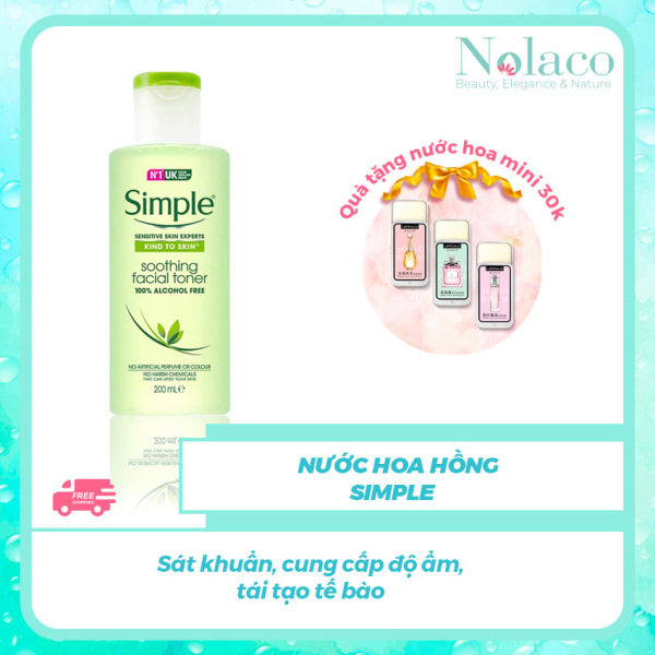 Nước hoa hồng Simple +  Sát khuẩn cung cấp độ ẩm tái tạo tế bào+ Nước hoa hồng cho da dầu Nhật Bản + NOLACO - Giới hạn 1 sản phẩm/khách hàng cao cấp