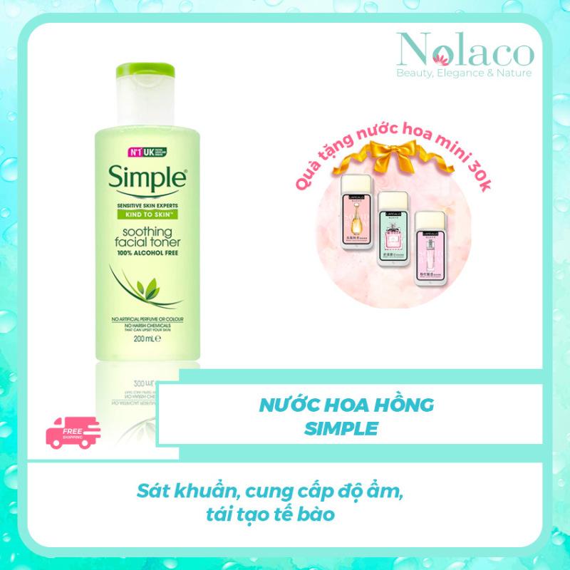 Nước hoa hồng Simple + Sát khuẩn cung cấp độ ẩm tái tạo tế bào+ Nước hoa hồng cho da dầu Nhật Bản +