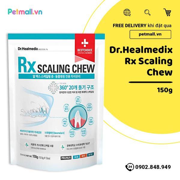 Xương gặm Dr.Healmedix RX Scalling Chew 150g - Sạch răng thơm miệng