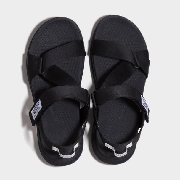 Sandals Shondo F7 Racing đế đen phối trắng quai đen F7R1010 giá rẻ