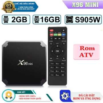Android Tivi Box X96 Mini Ram 2GB + Rom 16GB || 3 phiên bản  ROM Gốc Và ROM ATV , Bản Pro Điều Voice || Tặng Kèm Chuột không dây || Bảo Hành 12 Tháng 1 Đổi 1
