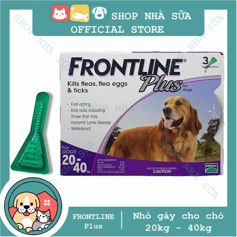 Thuốc Nhỏ Gáy Trị Ve và Bọ Chét Trên Chó 20-40kg - FRONTLINE PLUS DOG - 1 Hộp (3 tuýp)