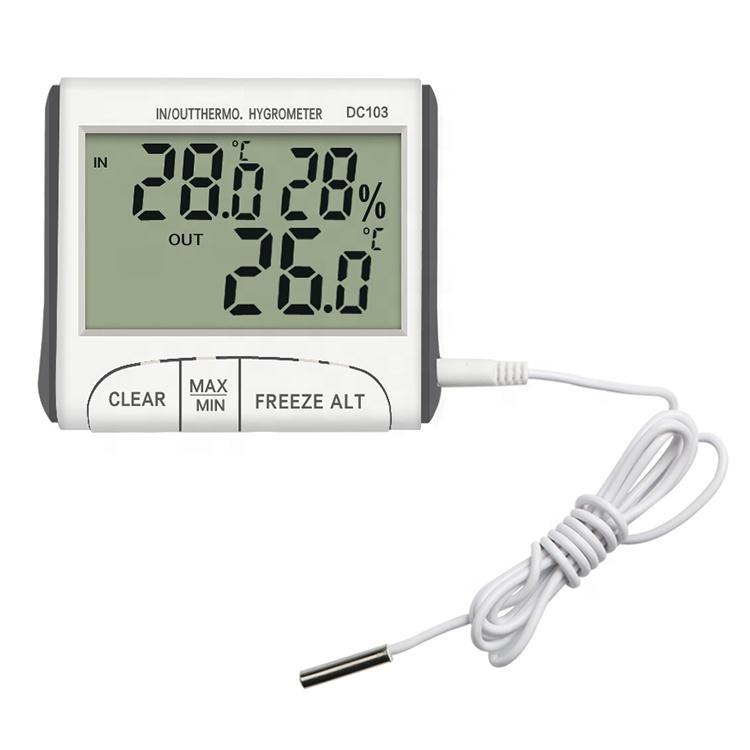 Nhiệt ẩm kế điện tử DC103 đo phòng, nhiệt ẩm kế Gia đình, Thiết bị theo dõi nhiệt độ độ ẩm gia đình chính hãng