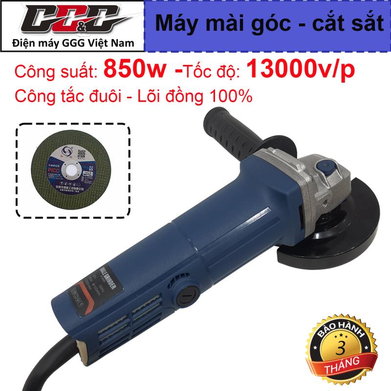 Máy mài góc, máy cắt sắt, cắt gạch, máy mài cầm tay đa năng Angle 9525 - Lõi đồng 100% công suất 850w