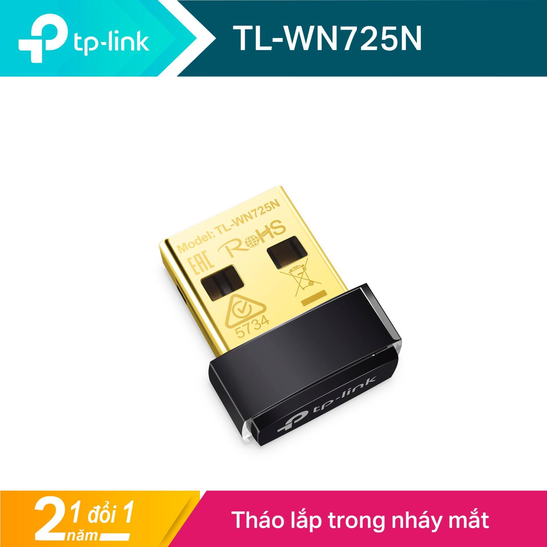 TP-Link USB wifi (USB thu wifi) Chuẩn N 150Mbps TL-WN725N - Hãng phân phối chính thức