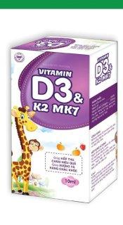 Vitamin D3 K2 Mk7 Nhỏ Giot Giúp Bé Hấp Thụ Calci Tăng Trưởng Chiều Cao Cân Nặng Tăng Sức Đề Kháng Hộp 10ml Đức Anh Center thumbnail