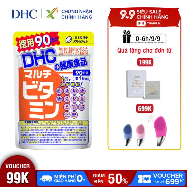 Viên uống Vitamin tổng hợp DHC Nhật Bản Multil Vitamins thực phẩm chức năng bổ sung 12 vitamin thiết yếu hàng ngày nâng cao sức khỏe, làm đẹp da gói 90 ngày XP-DHC-MUL90