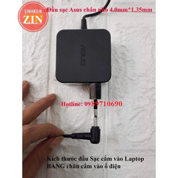 Bảng giá 🎁Sạc Laptop Asus X453 X553 E402 E502 X441 X507M 19V – 1.75A sạc vuông chân nhỏ 1.35 ZIN Phong Vũ