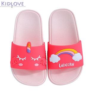 Kidlove Xăng Đan Trẻ Em Thường Ngày Chống Trượt Giày Đi Trong Nhà In Hình Hoạt Hình Đế Mềm, 15-19Cm