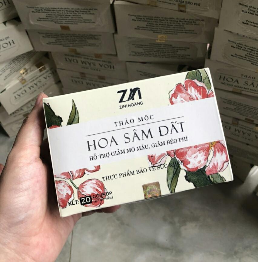 Combo 2 hộp trà Hoa Sâm Đất Zn