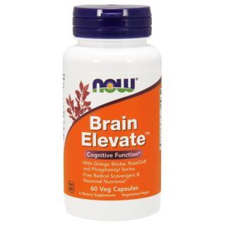 Thực phẩm bảo vệ sức khỏe Brain Elevate TM hãng Now foods USA Tăng cường tuần hoàn máu não, trí nhớ, giảm đau đầu, mất ngủ, hoa mắt, chóng mặt, rối loạn tiền đình thumbnail