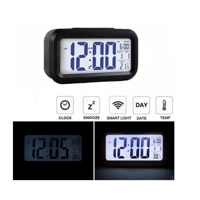 Nơi bán (Rẻ SẬP SÀN) Đồng Hồ Báo Thức Điện Tử Để Bàn Màn Hình LCD Đa Chức Năng: Thời Gian, Lịch, Báo Thức, Nhiệt Độ - AD208