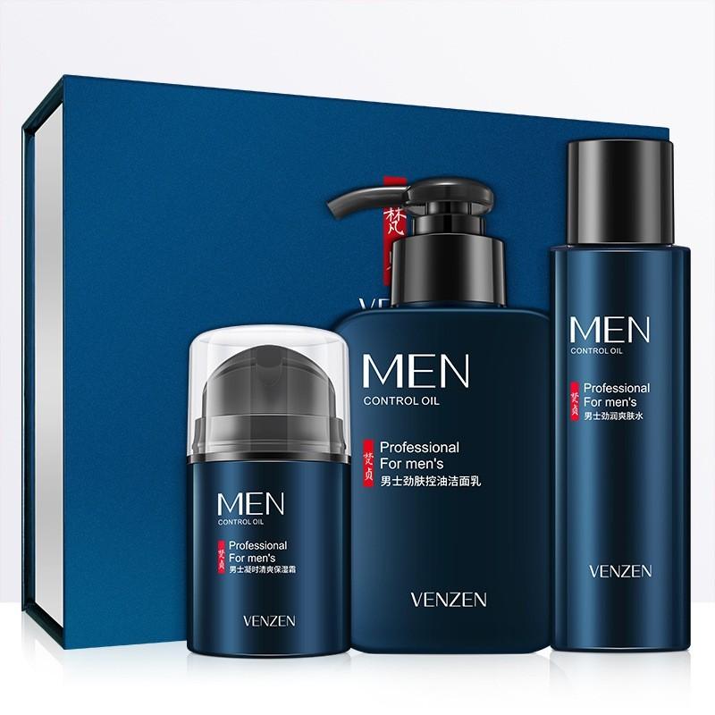 Bộ ba sản phẩm dưỡng ẩm và dưỡng ẩm làm mới làn da của nam giới