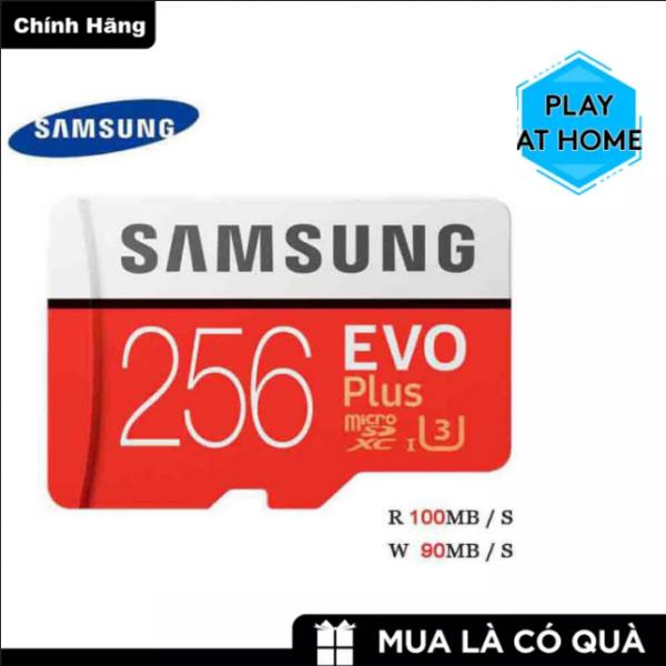 Thẻ nhớ MicroSDXC Samsung Evo Plus 256GB U3 4K R100MB/s W90MB/s - Box Anh ( Đỏ )
