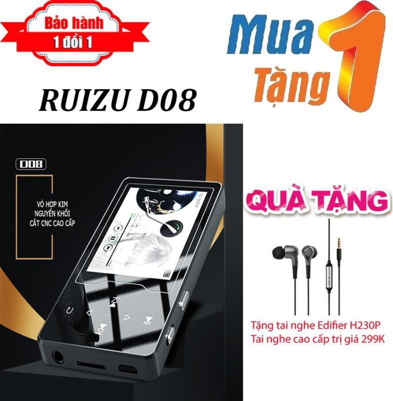 Máy nghe nhạc MP4 màn hình HD 2.4 inches Ruizu D08  + Tặng Tai nghe Edifier H230P cao cấp - Máy nghe nhạc Lossless chất lượng cao - máy nghe nhạc giá rẻ
