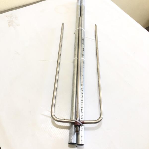 Xiên nướng lắp ráp dài 200cm phủ bì/ Xiên được thiết kế lắp giáp, có ốc xoáy lắp giáp với nhau, cán cầm dài 150cm làm bằng ống kẽm không gỉ