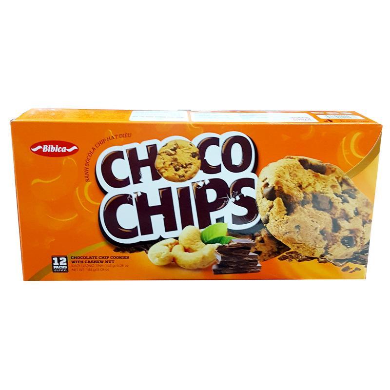 Bánh Sô cô la chip hạt điều hộp 144g