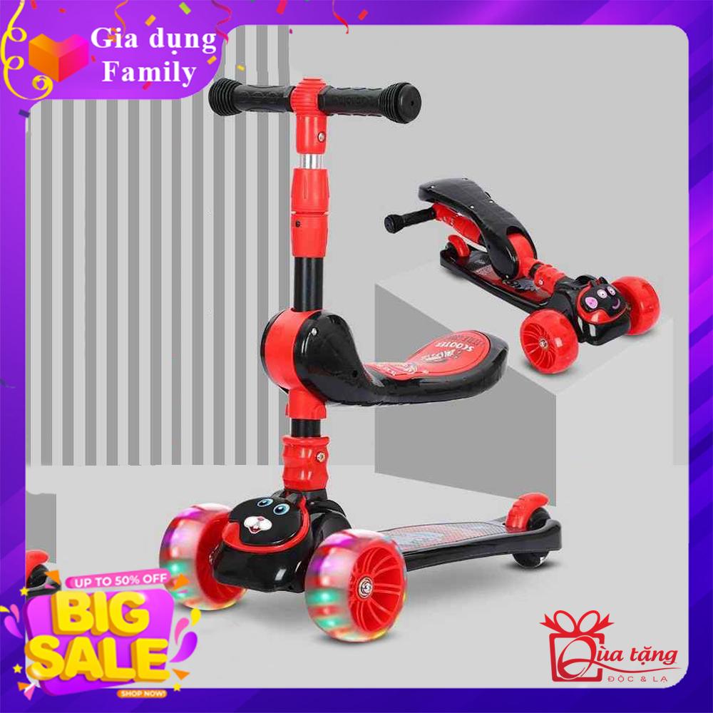 Xe trượt Scooter, Xe trượt giành cho bé từ 2-8 tuổi, Xe trượt 3 bánh, Đồ chơi ngoài trời giúp bé phát triển, Món quà đặc biệt giành tặng bé