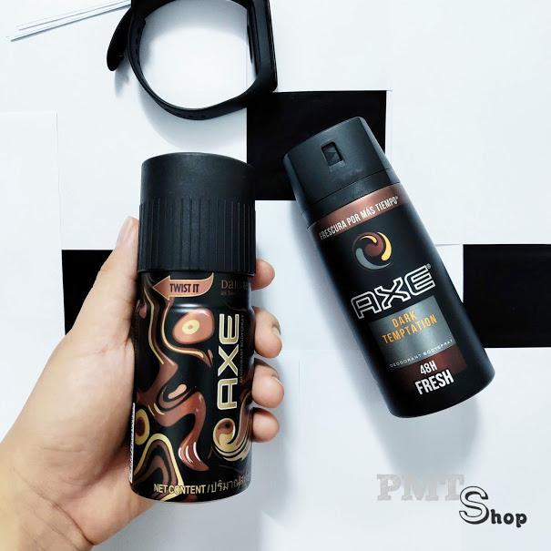 Xịt nước hoa toàn thân AXE Dark Temptation 150ml hương ngọt ngào - khử mùi nam cao cấp