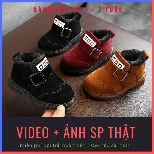 Giày Bốt Cho Bé Trai, Bé Gái Cao Cấp Siêu ấm Cao Cấp, Chống Trơn Trượt Dành Cho Bé Từ 2-7 Tuổi Có Giá Siêu Tốt