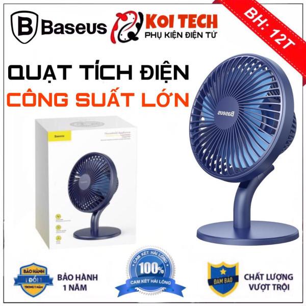 Quạt tích điện mini để bàn Baseus Ocean Fan 3 sạc pin 2000mAh 4 mức tốc độ - QUẠT MINI DU LỊCH PHƯỢT TIỆN LỢI