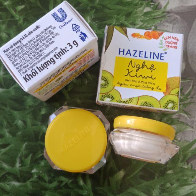 Combo 10 hộp kem nén Hazeline nghệ kiwi 3g nhập khẩu