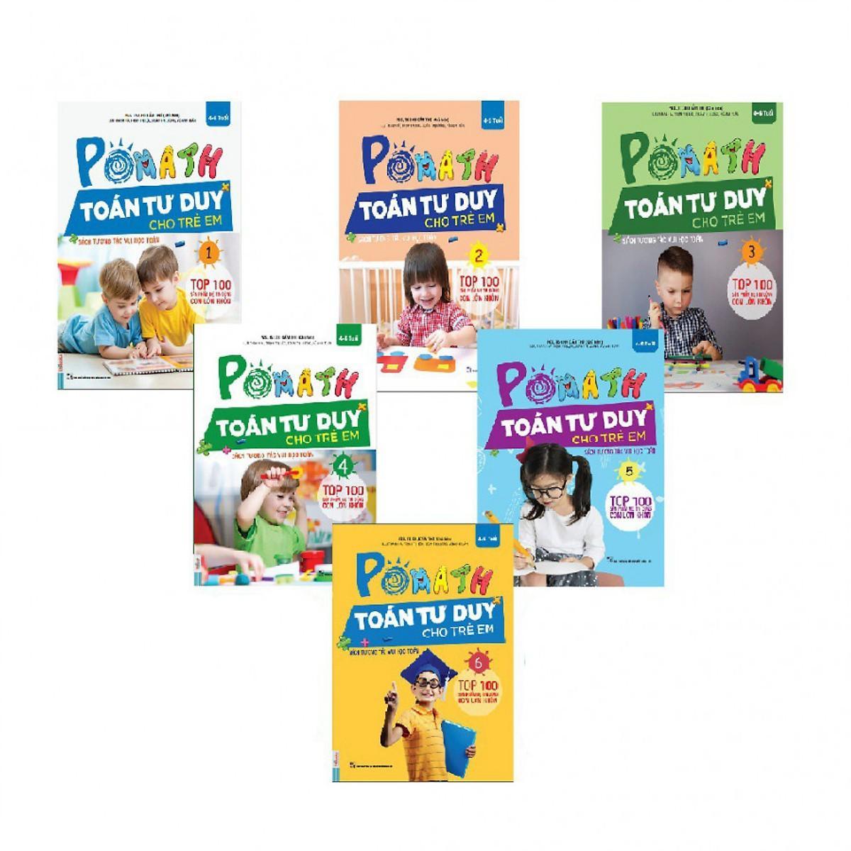 Mua Bộ Sách PoMath - Toán Tư Duy Cho Trẻ Em 4-6 Tuổi (6 cuốn)