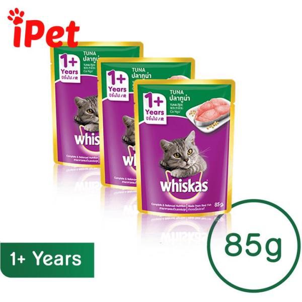 Pate Vị Cá Ngừ Cho Mèo Lớn Whiskas Junior Tuna 85g - iPet Shop