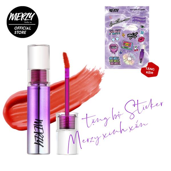 [Tặng bộ sticker Merzy]Son tint bóng siêu lì cho đôi môi căng mọng Merzy Aurora Dewy Tint 5.5g [9 màu] giá rẻ