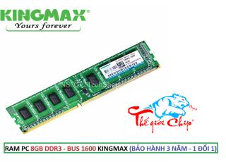 RAM PC 8GB DDR3 - BUS 1600 KINGMAX (BẢO HÀNH 3 NĂM - 1 ĐỔI 1) thumbnail