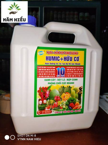 Phân bón lá tưới Gốc rễ HUMIC + HỮU CƠ - Thùng 5L - Nuôi dưỡng trái và tái tạo bộ rễ cực mạnh - Xanh cây - Dày lá - Mập cành - Phóng chồi cự mạnh