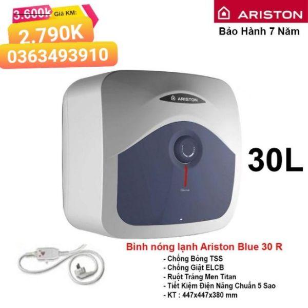 Bảng giá Bình nóng lạnh Ariston 30L vuông 1 đèn