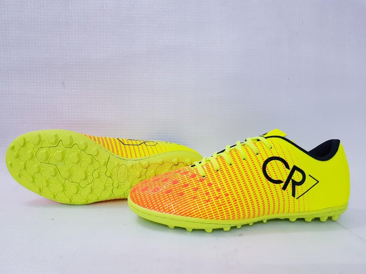 Giày đá bóng cao cấp CR7 caro F 2019 Cực Đẹp- cỏ nhân tạo -Khâu full giày Nhật Bản