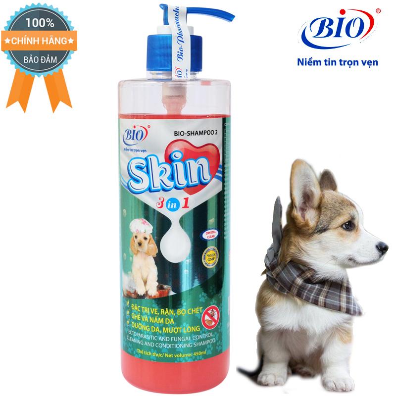 [HCM]Sữa tắm Bio Skin 3in1 viêm da dưỡng lông 450ml- 79307