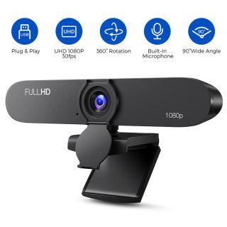 Webcam máy tính TOPSYNC 1080P Full HD ( GIẢM GIÁ CỰC SỐC ) Webcam pc laptop học online, trực tuyến , Webcam HD tích hợp Mic truyền tải âm thanh trung thực, hình ảnh sắc nét - Hàng Chính Hãng thumbnail