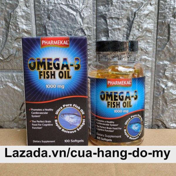 Viên uống Omega 3 Fish Oil 1000mg Pharmekal 100 viên - Dầu Cá Mỹ cao cấp