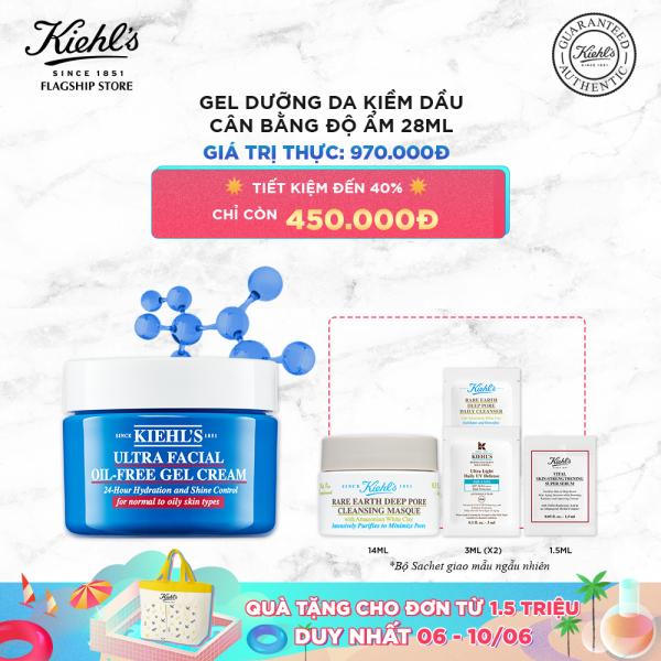 Gel Dưỡng Ẩm Kiềm Dầu Kiehls Ultra Facial Oil-Free Gel Cream 28ml