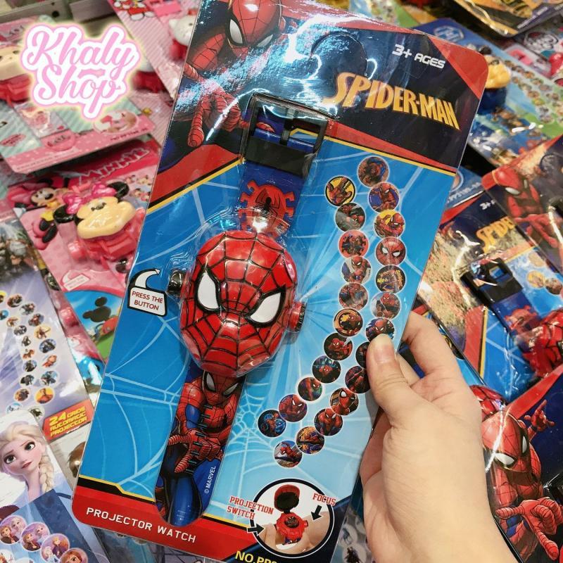 Nơi bán Đồng hồ điện tử đeo tay chiếu ảnh hình người nhện Spiderman nổi 3D cho trẻ em bé trai màu đỏ siêu hot - 24NDH3DSPM