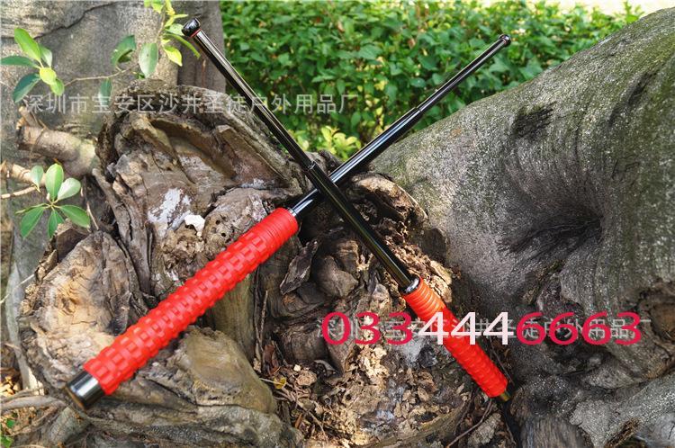 gậy bảo vệ an ninh gia đình ( 3 khúc HUMER ) chuôi cầm màu đỏ_baton + Tặng Dao ATM + cơ hội trúng iphone X MAX