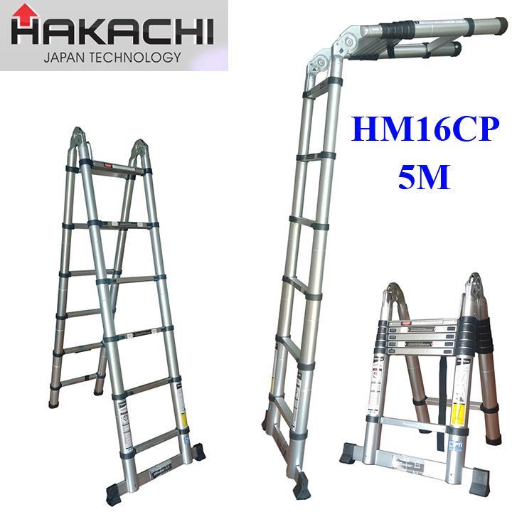 Thang nhôm rút HAKACHI HM16CP - 5m